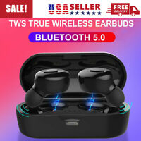Bluetooth 5.0 Headset TWS Wireless Earphones Earbuds Stereo In-Ear Headphones US