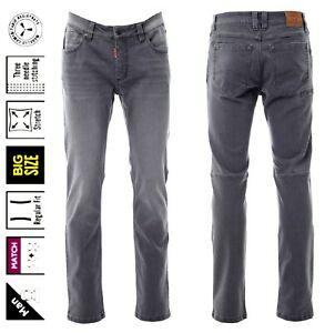 Herren Jeans Denim Stretch grau stonewashed b. Größe 74 Arbeits- Freizeithose