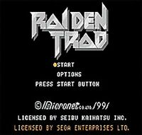 Raiden Trad: Sega Cartridge Game MD 31 NTSC-USA 16 Bit Megadrive Genesis