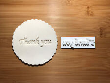 embossing for cupcake and cake - stamps sugarpaste Thank you