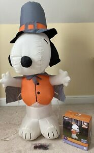 Snoopy Pilgrim Thanksgiving Peanuts Airblown Inflatable 4-Ft Gemmy Indoor/Out