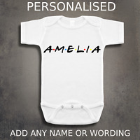 Personalised Friends Inspired Baby Grow Vest - TV Show Baby Clothing Gift Idea