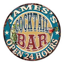 Cpco-0001 James'S Cocktail Bar Tin Sign Father's Day Gift Decor Ideas For Man