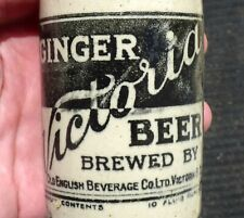 Antique VICTORIA British Columbia stone ginger beer bottle FREE SHIPPING!