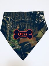 Dog Bandana, Mossy Oak, Hunting, Camo, Personalized,Monogram,Over the Collar