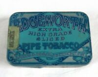 vintage EDGEWORTH sliced pipe tobacco TIN clamshell TAX STAMP
