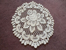 Collectible Beautiful Heritage Lace Doily Table Linen Off White 12 x 10 Inch