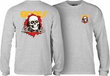Powell Peralta Bones Ripper Long Sleeve Skateboard Shirt Ash Xxl