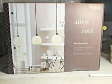Allen and Roth Mini Pendant Brushed Nickel Finish &  White Glass Shade #0760258