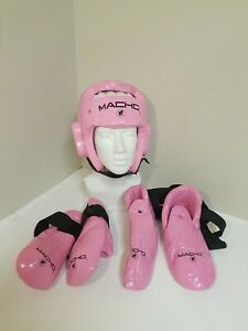 MACHO  Pink Martial Arts Sparring Gear Youth Size