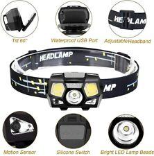USB Rechargeable LED Headlamp Headlight Head Lamp Flashlight Camping Waterproof