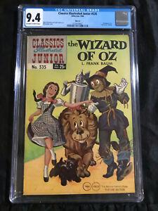 "1968 Classics Illustrated Junior #535 CGC 9.4 Wizard of Oz ""Twin Circle"" Variant"