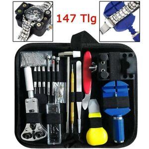 147-tlg Uhrenwerkzeug Set Uhrmacherwerkzeug Uhr Gehäuseöffner Reparatur Werkzeug