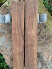 (2) Curly Black Walnut Thin Lumber Billets; 14.625 x 2.560 x .820 in. ea.