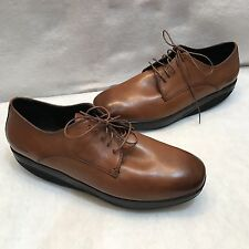 MBT Kabisa Toffee Leather Walking Comfort Lace Up Oxfords Dress Shoe 47 13 13.5