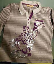 Biba by Escada  Polo Shirt Bluse langarm   Größe 3  L 40 42  NEUW.