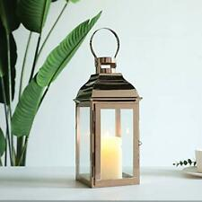 JHY DESIGN Decorative Lanterns 31.5cm High Stainless Steel Candle Lanterns with