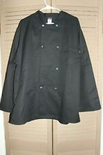 Chef Design Black Doubled Breasted Long Sleeve Chef Jacket Size Xl