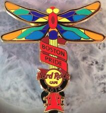 Hard Rock Cafe BOSTON 2014 GAY PRIDE PIN Rainbow Dragonfly Guitar - HRC #77664