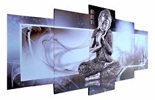 Buddha Bild XL 5 teiliges Wandbild Canvas Buddhabild Skulptur Feng Shui Figur