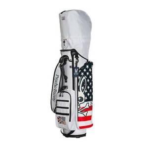 PsychoBunny Golf PBMG1FC4 caddie bag 6way Top Size 9.0 3.4kg White