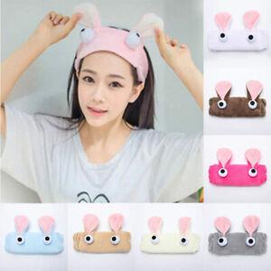 Women Cute Big Eyes Plush Headband Makeup Wash Face Cosmetic Hair Band Headwrap