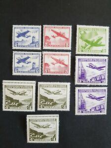 Briefmarken chile, Luftpost.