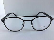 New PRADA VPR 6T0 DHO-1O1 49mm Round Brown Eyeglasses Frame