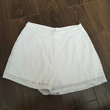 "lft Lefties By Zara white lace Mini Shorts L 30"" waist 12 uk"