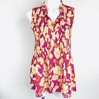 Cynthia Rowley New York Multi Sleeveless Women Blouse. Size Medium. NWT.