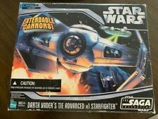Star Wars Saga Collection Darth Vader's Tie Advanced x1 Starfighter Hasbro Used