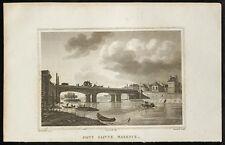 1829 - Gravure Pont Sainte Maxence