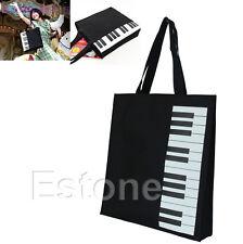Fashion Black Piano Keys Music Handbag Shopping Bag Tote Bag Handbag