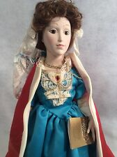 Franklin Heirloom porcelain doll Queen Mary ll