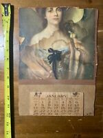 "1912 Calendar ""Lillian"" By Albert Lynch.  12"" X 8.5"".   As Pictured."