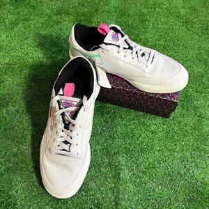 NEW Reebok Men's Club C85 Grey Retro Skateboard Shoes Sneakers Size 8 NEW