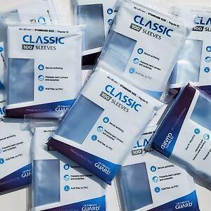 🍀x100 Soft Card Sleeves CLASSIC Regular ULTIMATE GUARD Standard carte Pokemon🍀