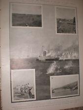 Venezuela Europea bombardeo de Fort en Puerto Cabello 1903 impresión Ref X