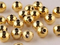 1Pcs 4mm AUTHENTIC 14K Yellow Gold Bead Lucky Loose Beads Pendant