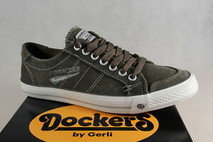Dockers Men's Slippers Lace Up Trainers Low Shoes Khaki New