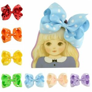 4.5'' Girls Fashion Bow Hair Pin Print Dot Baby Bobby Pin Hair Accessories Gift