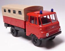 H0 BUSCH Robur LO 1801 A Pritsche Plane Fensterflächen Feuerwehr DDR # 51653