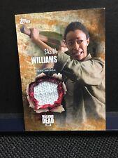 The Walking Dead Season 5 SASHA WILLIAMS  Authentic Shirt Relic Card Rust 56/99