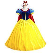 Damen Kostüm Schneewittchen Samt Kleid mit Tüll und Reifrock XS S M L