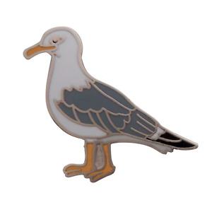 Seagull Herring Gull Pin Badge