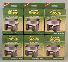 6-SURVIVAL EMERGENCY STOVES W/ 144 HEXAMINE ESBIT FUEL TABLETS KEEP WARM COOK#