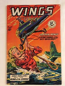Wings Comics #100 Golden Age Fiction House, 1948