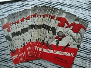 Full set of Middlesbrough 1968-69 home programmes - 23 programmes in all