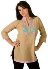 Cotton Kurti / Tunic with embroidery work and contrast collar