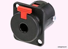 Neutrik NJ3FP6C-BAG 1/4 6.35mm Locking Panel Phone Jack Black w/ Silver Contacts